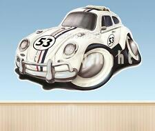Herbie Race Car Cartoon Love Bug WALL GRAPHIC FAT DECAL MAN CAVE MURAL 8150 vw