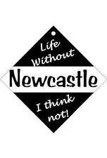 Newcastle Car/window signs / Personalised signs / flexible magnets