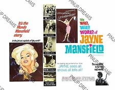 "Poster Retro 1960s Vintage Bombshell ""The Wild Wild World of Jayne Mansfield"""