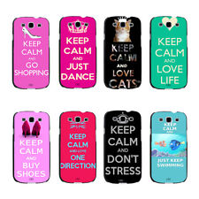 Hot Pink Keep Calm And Love Life Quote Hard Case For Samsung Galaxy s3 s4 s5