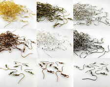 DIY Wholesale 100Pcs/500pcs Copper SILVER/GOLD PLATED EARRING HOOK COIL EAR WIRE