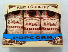 One Pound Amish Country Popcorn Gift Box, 3 One Lb Bags Choose From 13 Varieties