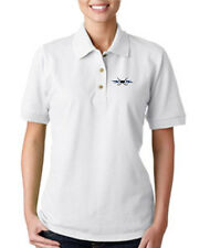 HOCKEY TATTOO Embroidery Embroidered Lady Woman Polo Shirt