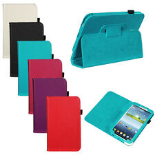 "Folio PU Leather Case Cover Stand For Samsung Galaxy Tab 3 7.0 7"" P3200 P3210"