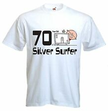 SILVER SURFER 70TH BIRTHDAY T-SHIRT - Gift Present - Sizes Small to XXXL