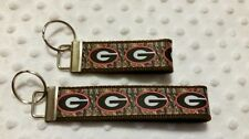 Georgia Bulldog and Camo inspired key chain 2 sizes *CHELLE* Makes a great gift!