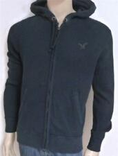 American Eagle Outfitters AEO Mens Thermal Zip Hoodie Jacket Navy Blue NWT