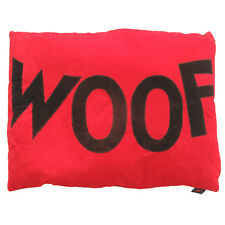 Creature Clothes-Dog Doza Bed-Chocolate 'Woof'/Red-Made in Uk-Med or Large Avail