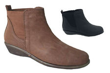 Ladies Boots Be Me Jaspa Pull on  Black Ankle Boot Size 6-10 New Comfy