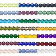 12 Round 6mm Czech Glass Druk Beads In Many Transparent Colors