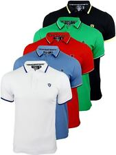Mens Dissident Pique Polo T-Shirt Short Sleeved Twin Tipped