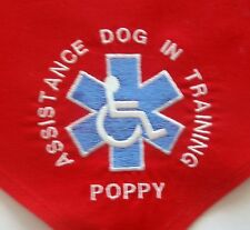 Assistance Service Dog In Training Personalized Dog Bandana all colors available
