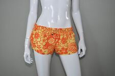 CIA MARITIMA Orange Yellow Hawaiian Floral Swim Shorts Cover Up S M L XL * NWT
