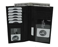 CHECKBOOK MONEY CREDIT CARD HOLDER NEW STYLE GENUINE LEATHER HOLDS 15 CARD