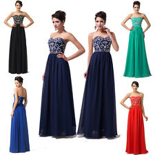 Sale~ Long Beaded Evening Cocktail Graduation Party Prom Gown Bridesmaid Dresses
