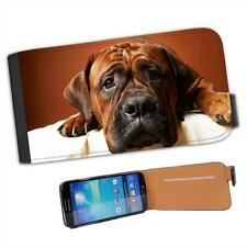 Boxer Dog Looking Innocent Leather Flip Case for Samsung S4