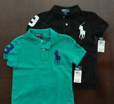 NWT Ralph Lauren Infant Boys S/S Big Pony Solid Mesh Polo Shirts 12m 18m 24m NEW