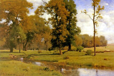 JUNE COUNTRYSIDE LANDSCAPE STREAM 1882 AMERICAN PAINTING BY GEORGE INNESS REPRO
