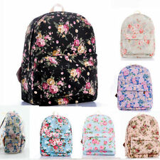 Flower Printed Girls/Women Canvas Backpack Travel Bags School Backpack Rucksack