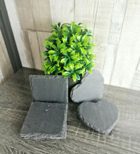 Set Of Natural Slate Round Square Heart Coffee Table Mug Drinks Cup Mat Coasters