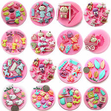 Cartoon Silicone Mould Fondant Cake Decorating Cupcake Wedding Tools Gum Cutter