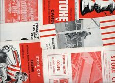 Stoke City HOME programmes 1960s FREE P&P UK Choose from list