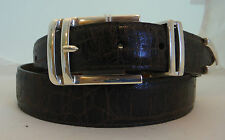 """Brighton """"Angelo Taper"""" Brown Leather Belt  Size 34  Made USA"""