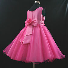 HP668 Hot Pink Princess Wedding Dance Party Flower Girls Dresses AGE 1 to 12Year