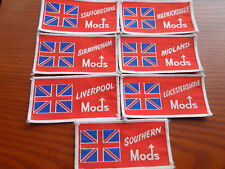 Mods Sew-on Cloth Patches (Vespa, Scooter) UK areas