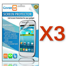 CoverON Lot 3x Optical Quality Anti-Glare Clear Screen Protector for LG Phones