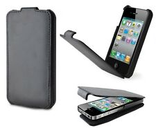 LEATHER FLIP CASE BUILT IN EXTERNAL 2000MAH BACK UP BATTERY FOR iPHONE 4 4S