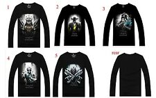 League of Legends!game character patterned cotton long-sleeved T-shirt LOL