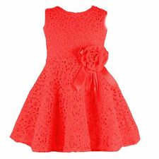 Baby Girls Kids Full Lace Floral One Piece Dress Child Princess Party Dress 2-7Y