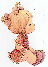 "6.5-10.5"" PRECIOUS MOMENTS   GIRL  WALL SAFE STICKER  BORDER CUT OUT"