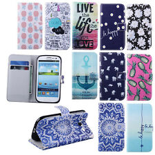 For Samsung Galaxy SIII S3 i9300 Leather Flip Wallet Card Clip Stand Case Cover