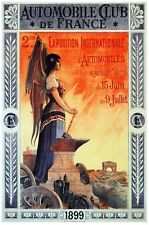 6296.Automobile club de france.woman with sickle.POSTER.Home Office art