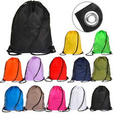 WATERPROOF BAG DRAWSTRING BACKPACK GYM PE SWIM SCHOOL DANCE PE