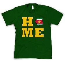 SURINAME COUNTRY HOME COUNTRY Forest Green Cotton Unisex Adult T-Shirt Tee