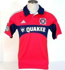 Adidas ClimaCool Chicago Fire Red Short Sleeve Soccer Football Jersey Mens NWT