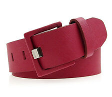 CALVIN KLEIN Womens Covered Buckle Textured Leather Belt - Red