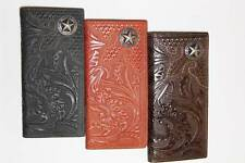 Mens Or Ladies Montana West Leather Star Checkbook Wallet