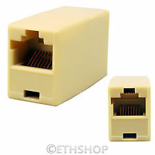 RJ45 Network Cat5e Cable Female Joiner Coupler Connector LOT 5 10 20 50 100 Pack