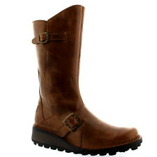 Womens Fly London Mes Wedge Heel Leather Snow Winter Riding Mid Calf Boot UK 3-9