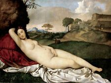 6635.Woman laying on field on red pillow.masturbating.POSTER.art wall decor