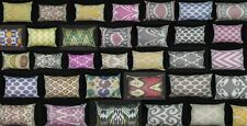 UZBEK SILK IKAT ADRAS FABRIC PILLOW CASES ORIENT IN VARIATIONS, Rectangle Shape