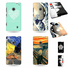 Hard Cover Protector New Cases  for Nokia Lumia 521  Various Designs