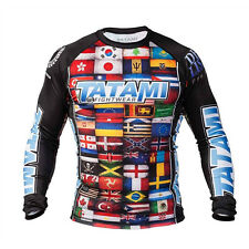 Tatami Fightwear Dean Lister Flags Long Sleeve Rashguard - Black