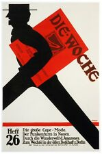 6835.Die woche.man running with red box under arm.POSTER.art wall decor
