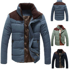 Men's Winter Warm Thermal Wadded Jacket Cotton-padded Slim Style Winter Coat USA