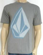 Volcom Opy Stone Tee Mens Gray Cotton Blend T-Shirt New NWT